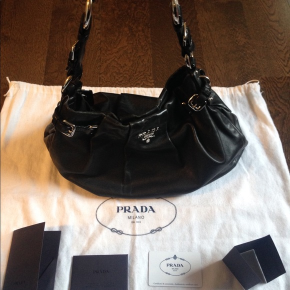 ccba5ac6a02c ... tessuto nylon. ecc84 3e383; canada prada hobo soft calf leather  shoulder bag 49434 6aada
